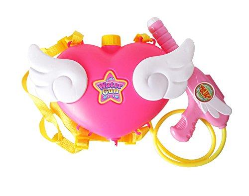 Bininbox Kids Girls Angel Heart Backpack Super Soaker Water Guns Squirt Gun (Fire Hose Super Soaker compare prices)