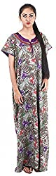 Milan Collection Women's Printed Dressing Gowns & Kimonos (MC-237_40, Purple, Size - 40)