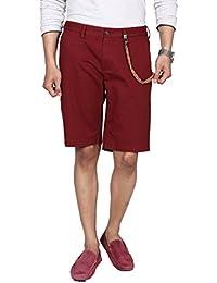 Hammock Men's Solid Chino Shorts - Deep Red