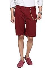 Hammock Men's Solid Chino Shorts - Deep Red (40), H21A26J50140