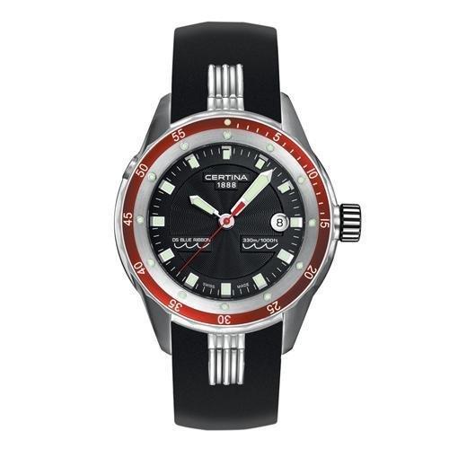 Certina DS Blue Ribbon C007-417-17-051-00 Stainless Steel Case Black Rubber Anti-Reflective Sapphire Men's & Women's Watch