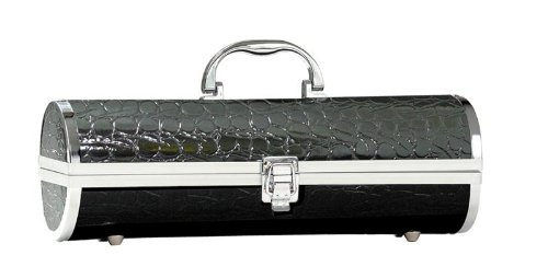 Primeware Gala Croc Wine Purse, Black