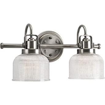 Progress lighting p2991 81 archie collection 2 light for Bathroom light fixtures amazon