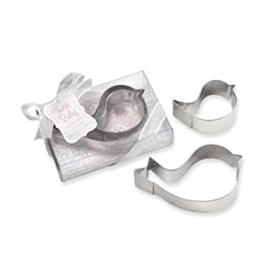 Kate Aspen Tweet Baby Mamma and Baby Bird Stainless-Steel Cookie Cutters, Blue (Discontinued by Manufacturer)