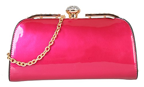rimenco-fashion-womens-evening-bag-tote-handbag-purse-lp-2842-fuchsia