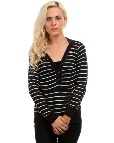 G2 Fashion Square Striped Button Down Hoodie