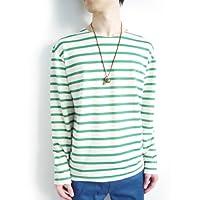 (モノマート) MONO-MART 4color マリンボーダー パイル地 サマーニットソー カットソー Tシャツ メンズ