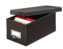 Globe-Weis® 90% Recycled Heavy-Duty Black Index Card Storage Case (4\