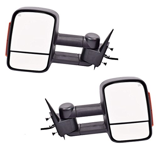 DEDC Tow Mirrors For Silverado 1500 Tow Mirrors For Silverado 2500 Towing Mirrors Power Heated With Signal Lights Foldable Pair For 2003-2006 Chevy Silverado GMC Sierra (2003 Chevy Truck Tow Mirrors compare prices)