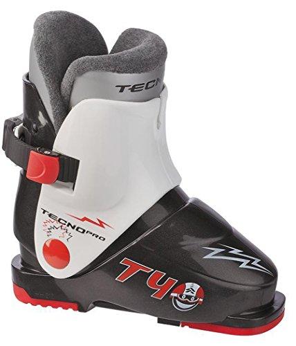 TecnoPro Skistiefel T40 Kinder Skischuh (Farbe / Größe: 902 schwarz/weiss - 27 Mondopoint-41 Schuhgröße)