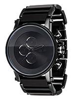 Vestal Men's PLA014 Plexi Acetate Grey Stripes Black Chronograph Watch from Vestal