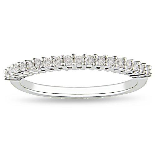 Sterling Silver 1/5 CT TDW Round White Diamonds Anniversary Ring (H-I, I3)