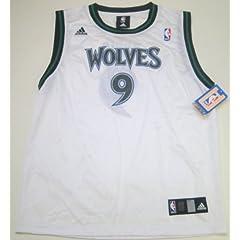 NBA Adidas Minnesota Timberwolves Ricky Rubio Youth Large White Replica Jersey (Size... by adidas