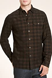Limited Collection Pure Cotton Slim Fit Checked Corduroy Shirt [T25-2019-S]