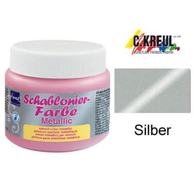 Home design 74329 schablonierfarbe silber 150 ml for Farben im wohnraum