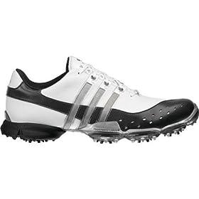 Adidas Powerband 3.0 Golf Shoe (White/Black/Silver) 12 Wide