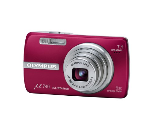 Olympus Mju 740 Digital Camera (7.1MP, x 5 Optical Zoom) 2.5 LCD - Pink