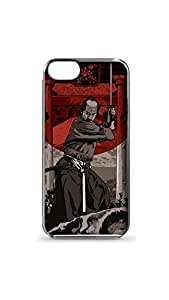 Kung Fu Master With Bloody Sword Designer Mobile Case/Cover For Apple iPhone 5/5S 2D Transparent