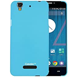 Casotec Ultra Slim Hard Shell Back Case Cover for Micromax Yu Yureka AQ5510 / AO5510 - Sky Blue
