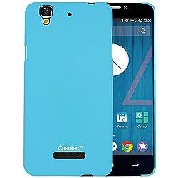 Casotec Ultra Slim Hard Shell Back Case Cover for Micromax Yu Yureka AQ5510 / AO5510 - Sky Blue