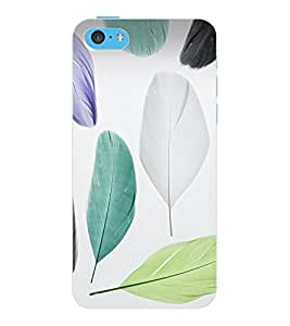 ColourCraft Beautiful Hearts Pattern Design Back Case Cover for APPLE IPHONE 5C