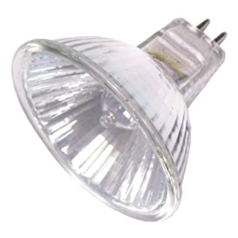 Ushio 1000592 - FNV/FG, JR12V-50W/WFL60/FG - MR16 Eurostar 50 Watt 12 Volt Wide Flood Covered Halogen Bulb