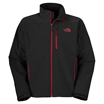 Men's The North Face Apex Bionic Jacket Black/Biking Red Size XX-Large