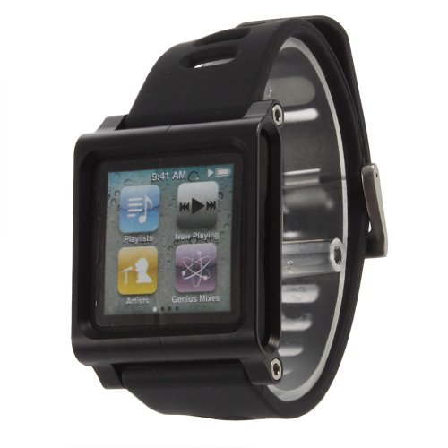 toogoor-adjustable-length-wide-sport-strap-watch-band-for-ipod-nano-6th-generationaluminum-casesilic