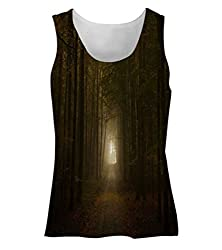 Snoogg Way To Forest Womens Tunic Casual Beach Fitness Vests Tank Tops Sleeveless T shirts