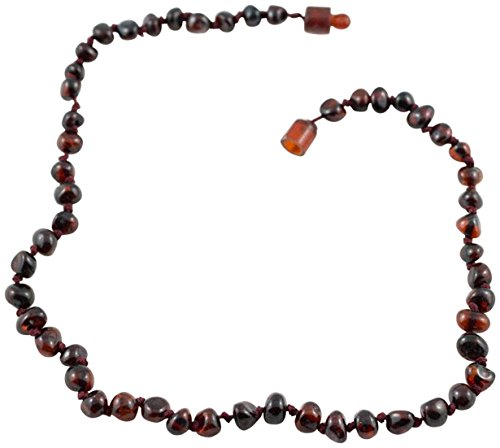 Healing Hazel 100% Baltic Amber Teething Necklace - Cherry 12-13""