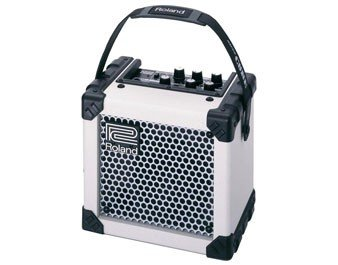 Roland Micro Cube Battery Guitar Amp Combo in White