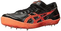 ASICS Men\'s High Jump Pro Track Shoe, Black/Flash Coral/Silver, 8.5 M US