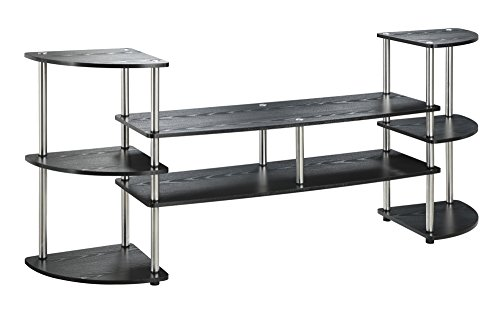 Convenience Concepts Multi Level TV Stand, X-Large, Black Finish