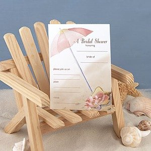 Beach Umbrella Bridal Shower Invitations (25 cards and envelopes)