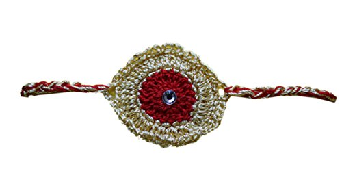 Red Crazy Crochet Fabric Strand For Unisex ( Red ) (Black)