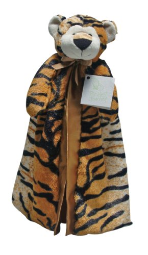 "Pickles 16X16"" Journey Fleece Banky Blanket, Tiger"