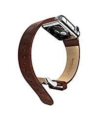 Hoco Art Genuine Leather Buckle Magnetic Strap Band For Apple Watch 38mm - Brown
