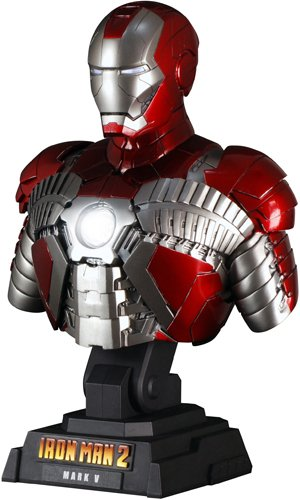 Hot Toys Bust - 1/4 Scale Collectible: Iron Man 2 - Mark 5 [JAPAN]