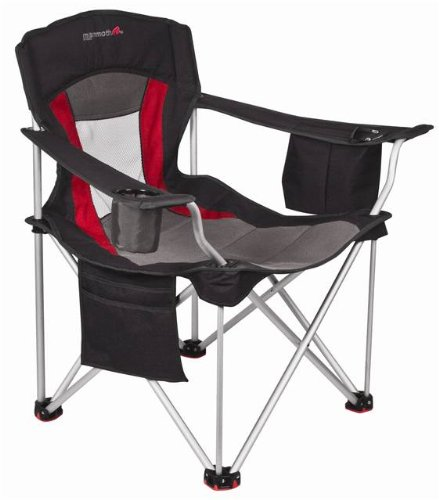 Basecamp by Mr. Heater Mammoth Leisure Aluminum Chair (Black/Red)
