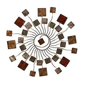 Bombayjewel Modern Blossom Sun Abstract Metal Wall Art