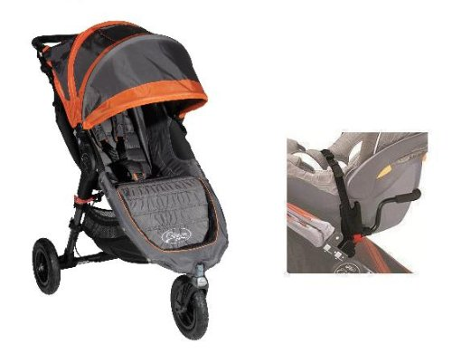 Baby Jogger Mini GT Stroller in Shadow/Orange WITH Car Seat Adapter