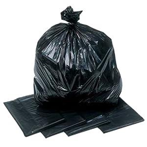 Extra Heavy Duty 200 Gauge Black Bin Bags Sacks x 200