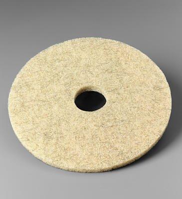 """3M Natural Blend Floor Pad 17 """" Dia 3500 Series Tan Boxed"""
