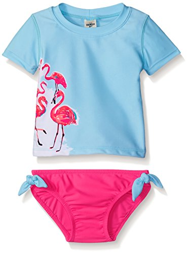 Osh kosh baby girls 39 flamingo short sleeve rash guard set for Baby rash guard shirt