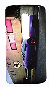 KraftLink Premium Radium Night Glow Touch Feel Smooth Designer Hard Back Case Cover For Motorola Moto X Play