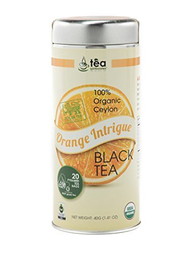 """Orange Intrigue"" Premium Oolong Black Tea - 100% Organic Ceylon Tea Tin (40 Grams)"