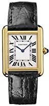 Cartier Tank Watch: Cartier Midsize Tank Solo 18K Yellow Gold Watch #W1018755