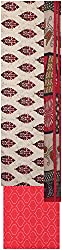 Payal Collection's Women's Cotton Unstitched Salwar (Cream and Red)