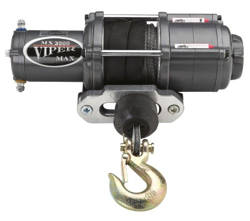 Viper Max 3500Lb Utv Winch & Custom Mount For Polaris Ranger Models (Please See Fitment) With Black Amsteel®-Blue Synthetic Rope