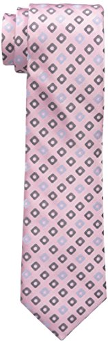 Haggar Men's Tall Performance Neat Necktie, Large Long, Pink (Pink Extra Long Ties compare prices)